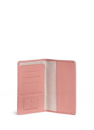 Figure View - Click To Enlarge - Bynd Artisan - Pebble grain leather passport holder