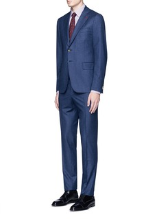ISAIA 'Cortina' chalk stripe wool-cashmere flannel suit