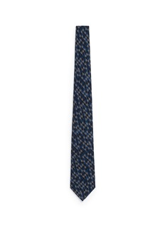 ISAIAHoundstooth print wool-silk tie