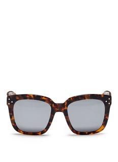 Spektre'Romano' tortoiseshell acetate oversize square mirror sunglasses
