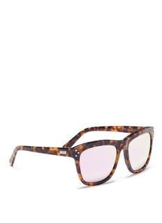 Spektre'Milano' tortoiseshell acetate oversize square mirror sunglasses