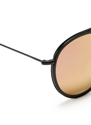Detail View - Click To Enlarge - Spektre - 'Vanni' metal round mirror sunglasses