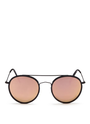 Main View - Click To Enlarge - Spektre - 'Vanni' metal round mirror sunglasses