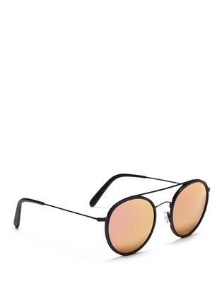Figure View - Click To Enlarge - Spektre - 'Vanni' metal round mirror sunglasses