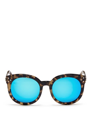 Main View - Click To Enlarge - Spektre - 'Isabel' tortoiseshell acetate round mirror sunglasses