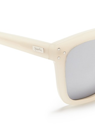 Detail View - Click To Enlarge - Spektre - 'Romano' acetate oversize square mirror sunglasses