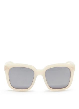 Main View - Click To Enlarge - Spektre - 'Romano' acetate oversize square mirror sunglasses