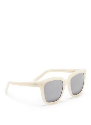 Figure View - Click To Enlarge - Spektre - 'Romano' acetate oversize square mirror sunglasses