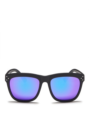 Main View - Click To Enlarge - Spektre - 'Milano' acetate square mirror sunglasses
