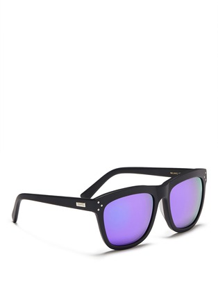 Figure View - Click To Enlarge - Spektre - 'Milano' acetate square mirror sunglasses