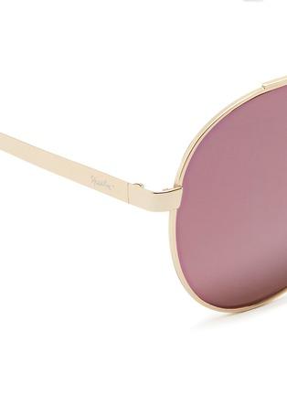 Detail View - Click To Enlarge - Spektre - 'Chiara' flat mirror lens metal aviator sunglasses