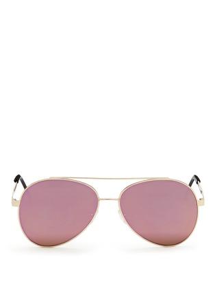 Main View - Click To Enlarge - Spektre - 'Chiara' flat mirror lens metal aviator sunglasses