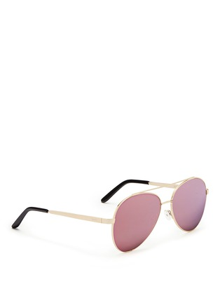 Figure View - Click To Enlarge - Spektre - 'Chiara' flat mirror lens metal aviator sunglasses