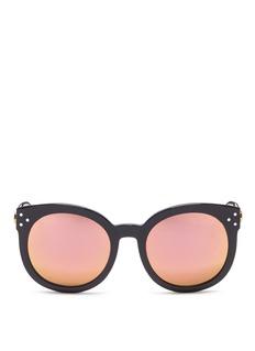 Spektre'Isabel' acetate round mirror sunglasses