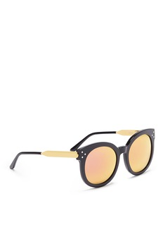 Spektre 'Isabel' acetate round mirror sunglasses