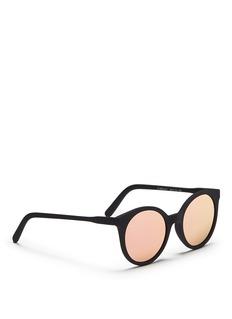 Spektre'Stardust' flat mirror lens acetate round sunglasses