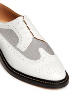 Oxford fabric insert leather longwing Derbies