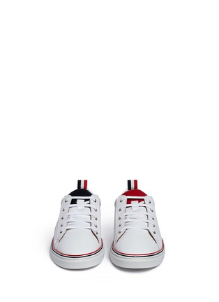 正面 -点击放大 - THOM BROWNE - Pebble leather sneakers
