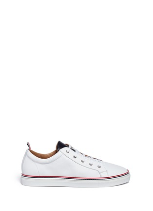 首图 - 点击放大 - THOM BROWNE - Pebble leather sneakers