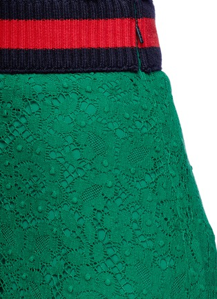 Detail View - Click To Enlarge - Gucci - Cluny lace midi skirt