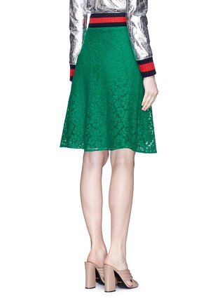 Back View - Click To Enlarge - Gucci - Cluny lace midi skirt