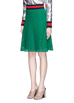 Front View - Click To Enlarge - Gucci - Cluny lace midi skirt