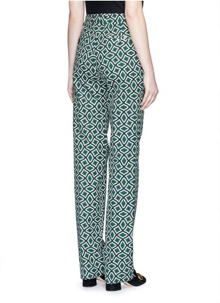 Back View - Click To Enlarge - Gucci - Retro wave print cotton suiting pants