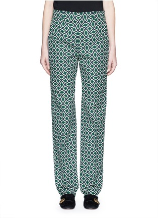 Main View - Click To Enlarge - Gucci - Retro wave print cotton suiting pants