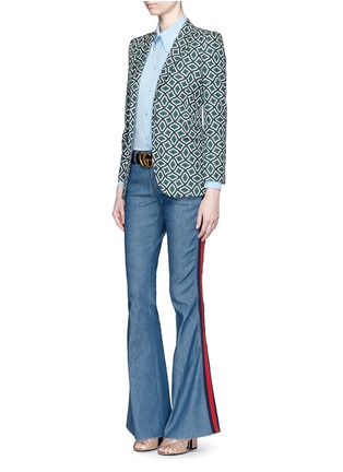 Figure View - Click To Enlarge - Gucci - Retro wave print cotton suiting jacket