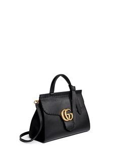 Gucci'GG Marmont' medium grainy leather shoulder bag