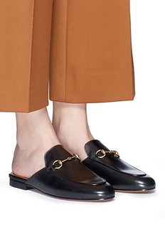 Gucci 'Princetown' horsebit leather slide loafers