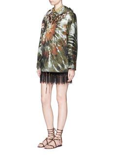 VALENTINOMasai bead embroidery tulle mini skirt