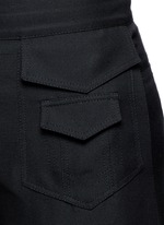 Silk wide leg pants