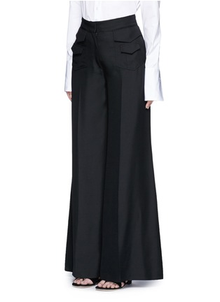 Front View - Click To Enlarge - Valentino - Silk wide leg pants