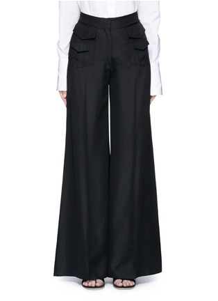 Main View - Click To Enlarge - Valentino - Silk wide leg pants