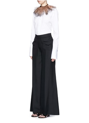 Figure View - Click To Enlarge - Valentino - Silk wide leg pants
