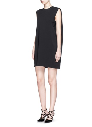 Figure View - Click To Enlarge - Valentino - Cape back sleeveless knit dress