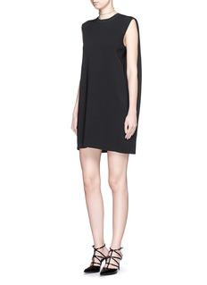 VALENTINOCape back sleeveless knit dress