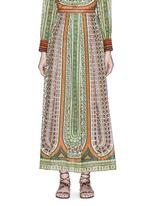 部落印花纯棉半身裙