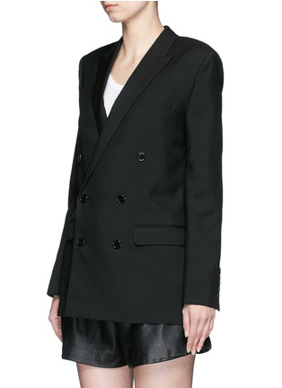 Front View - Click To Enlarge - Saint Laurent - Virgin wool gabardine blazer