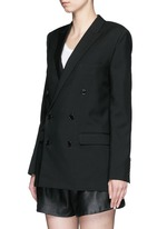 Virgin wool gabardine blazer