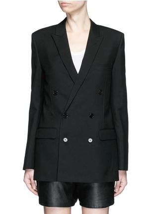 Main View - Click To Enlarge - Saint Laurent - Virgin wool gabardine blazer