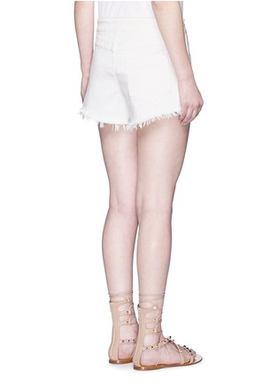 Chloé-Frayed drawstring denim shorts