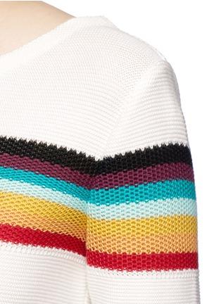 细节 - 点击放大 - CHLOÉ - 彩色条纹图案纯棉针织衫