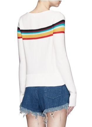 背面 - 点击放大 - CHLOÉ - 彩色条纹图案纯棉针织衫