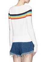 Rainbow stripe intarsia cotton sweater