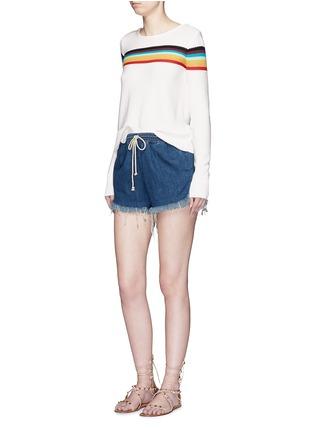 模特儿示范图 - 点击放大 - CHLOÉ - 彩色条纹图案纯棉针织衫