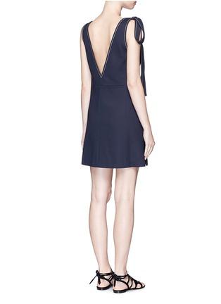 背面 - 点击放大 - CHLOÉ - 系带装饰V领连衣裙