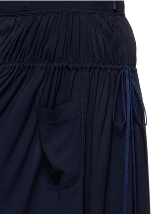 Detail View - Click To Enlarge - Chloé - Open back crepe dungaree tier maxi dress
