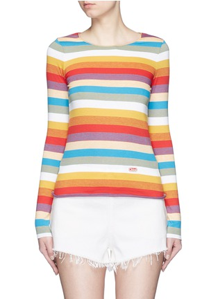 首图 - 点击放大 - CHLOÉ - 彩色条纹拼色纯棉上衣